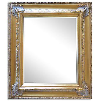 Mirror in gold, outer dimensions 59x69 cm Frankride motif