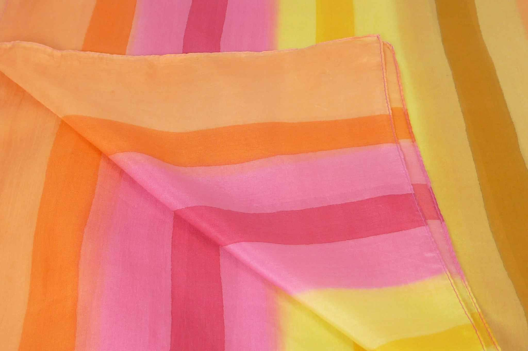 Mulberry Silk Classic Long Scarf Ranjee Rainbow Palette by Pashmina & Silk