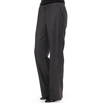 Day Check Wide Leg Trousers