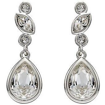 Delar Silver Swarovski Bridal örhängen - Silver