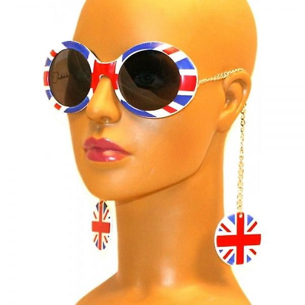 Union Jack Wear Union Jack Earring Chain Sunglasses