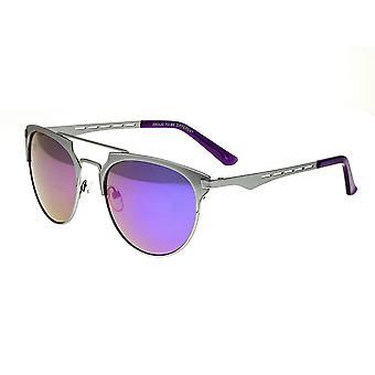 Rasse-Hercules-Titanium polarisiert Sonnenbrille - Silber/lila