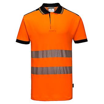 Portwest Mens PW3 Hi-Vis Polo Shirt
