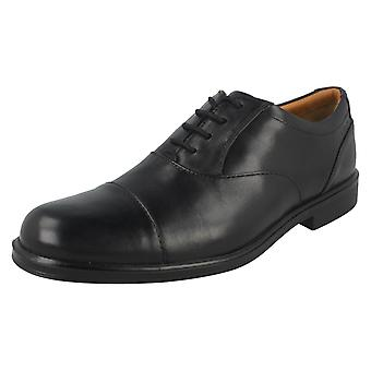 Mens Clarks formele Oxford Lace Up schoenen Gabson Cap