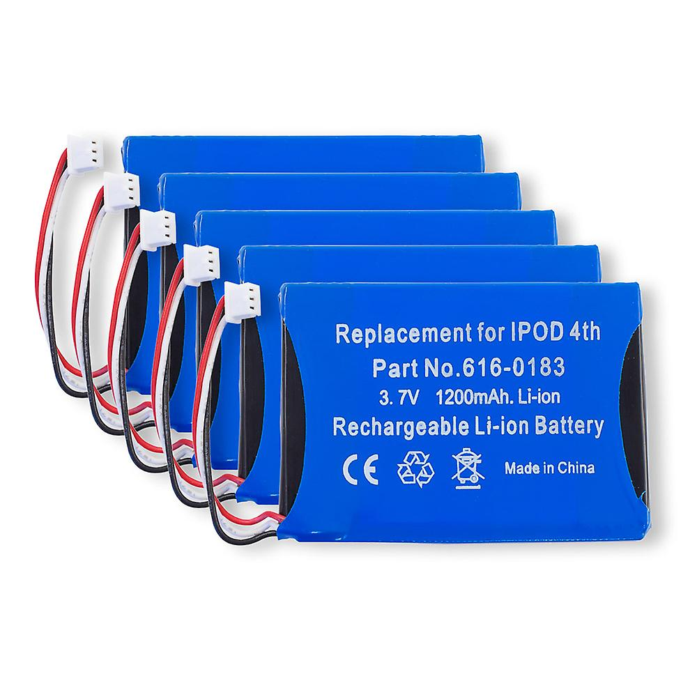 Lot of 5 Batteries for Apple iPod 4th Generation   A1099 616-0183