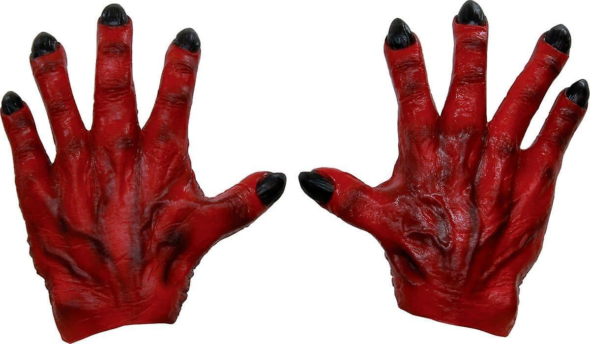 Potwór ręce czerwony lateks dla dorosłych