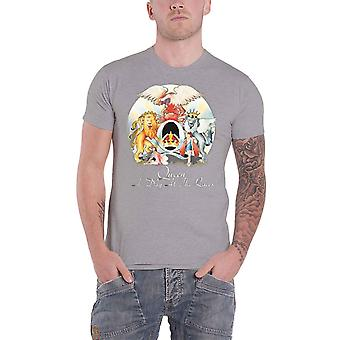 Queen T Shirt A Day At The Races Band Logo new Official Mens Heather Grey