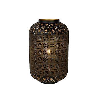 Lámpara de mesa negro Metal cilindro Oriental Lucide Tahar
