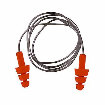 Portwest - Reutilizabile TPE corded Ear Plug Orange Regular