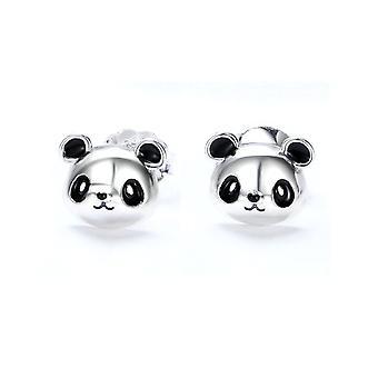 Frau in Silber 925/1000 Panda Ohrringe