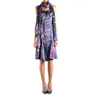 Just Cavalli Ezbc141001 Mujeres's Vestido de Poliéster Multicolor