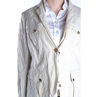 Brema Ezbc146018 Women's White Cotton Outerwear Jacket