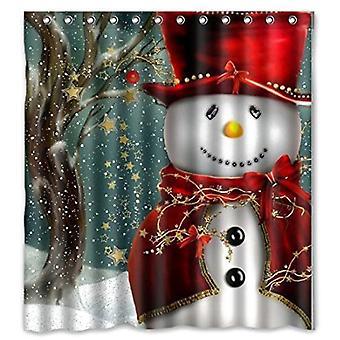 Douche gordijn-sneeuwpop