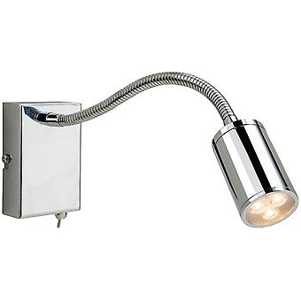 Firstlight-LED 3 licht flexi indoor muur Spotlight (geschakeld) chroom-3454CH