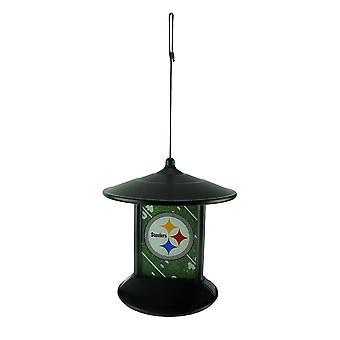 Pittsburgh Steelers Logo Solar Powered Hanging Birdfeeder