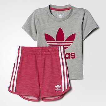 Adidas Originals Infant tyttöjen Trefoil Set tee & shortsit
