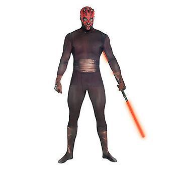 Star Wars Darth Maul Adult Unisex Zapper Cosplay Costume Digital Morphsuit - Large - Multi-Colour (MLZDML-L)
