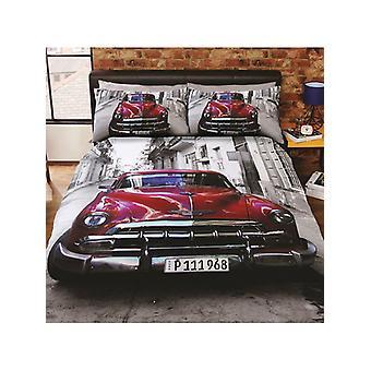 Santiago Classic Car Duvet Cover and Pillowcase Set