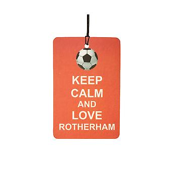Keep Calm And Love Rotherham Car Air Freshener