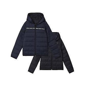 BOSS Kidswear Navy & Black Down Filled Reversible Jacket