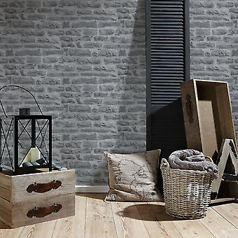 A.S. Creation AS Création Stone Brick Pattern Wallpaper Realistic Faux Effect Embossed Motif 319442