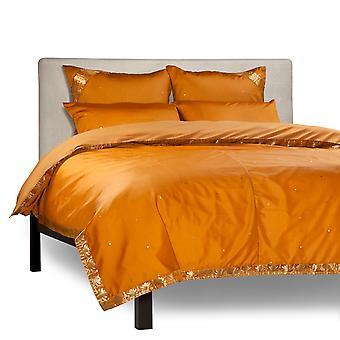 Senf - 5 Stück handgefertigten Sari Duvet Cover-Set mit Kissen-Abdeckungen / Euro Schein