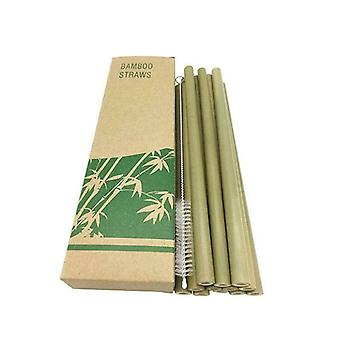 Bamboo Straws, 12-pack-Green