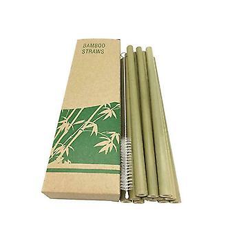 Bamboe rietjes, 12-pack-groen
