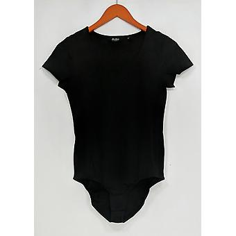 Du Jour Shaper Short Sleeve Scoop Neckline Knit Black A293725