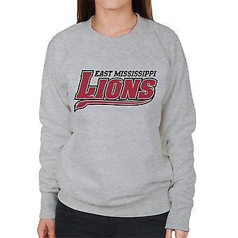 East Mississippi Community College Lions Dark Tail Logo Women's Sweatshirt