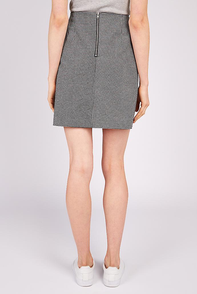 Joy Sibel Houndstooth Mini Skirt Black