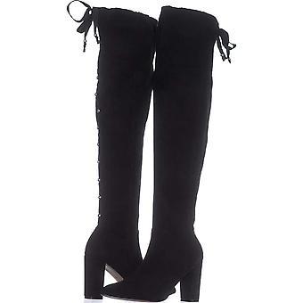 Adrienne Vittadini Kadın Nilson Diz Moda Boots Over Sivri Ayak