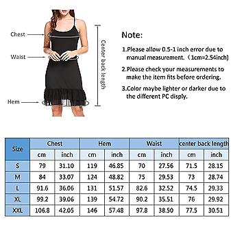 BBX Lephsnt Women's Adjustable Spaghetti Strap Chiffon Ruffle Camisole Dress ...