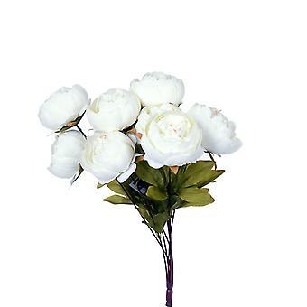 Kunstige blomsterbukett peoner hvit
