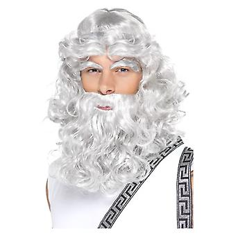Herre Zeus paryk Fancy kjole tilbehør