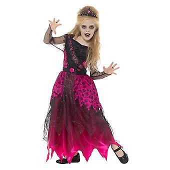 Dievčatá Gothic Prom Queen Halloween efektné šaty kostým