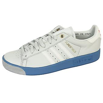 Adidas forest hills men's white and blue trainers