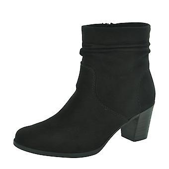Rieker læder stretchy fladt knæ støvler Z9591 26