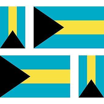 4 X ملصقملصق ملصقا سيارة دراجة نارية فاليز الكمبيوتر المحمولة علم جزر البهاما العلم