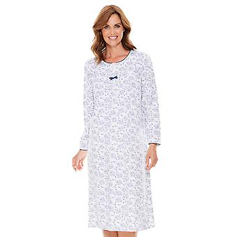 Chums Ladies Cotton Nightdress Long Sleeve
