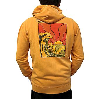 Rip Curl Sun Drenched Zipped Hoody in Orange