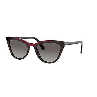 Prada SPR01V 3200A7 Havana-rood/grijs gradiënt zonnebril