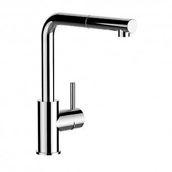 Kitchen Single-lever Sink Mixer With Extractable Shower And High Swivel Spout - 54