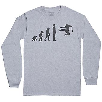 Evolution Flying Karate Kick-Mens pitkähihainen T-paita