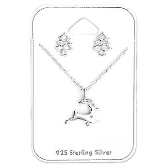 Natale Sterling Orecchini d'argento e collana set