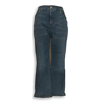 Isaac Mizrahi Live! Vrouwen ' s jeans 14 True denim Ankle blauw A307990