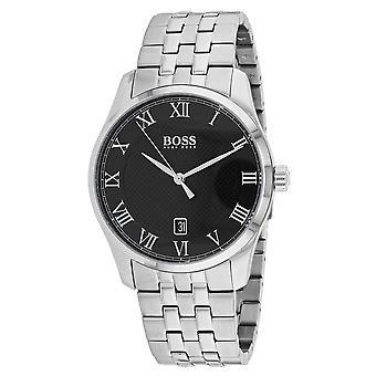 Hugo Boss Hombres's Master Black Dial Watch - 1513588