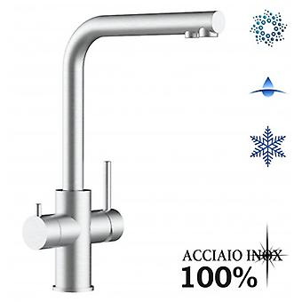Inox 5 Way Filter Tap, Single Lever And 3positon Selector Handle - Finition brossée - 343