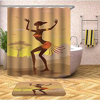 Dancing African Woman Shower Curtain