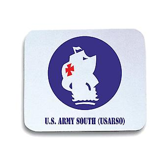 Tappetino mouse pad bianco wtc0818 us army south usarso